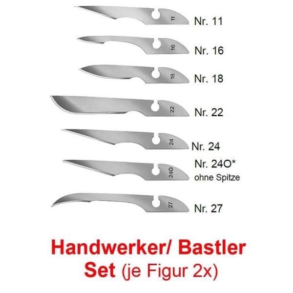 14x Bayha Skalpellklingen, Unsteril, Handwerker Mix Klingenset von Kosmetex, einzeln verpackt
