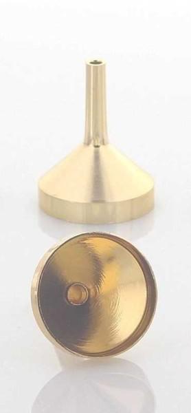 Mini Metall Gold Parfümtrichter, kleiner Trichter 3 cm zum umfüllen