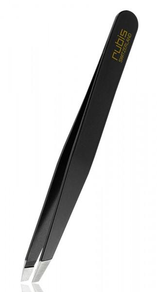 Rubis Pinzette Classic Black, schräge Spitze Tweezers
