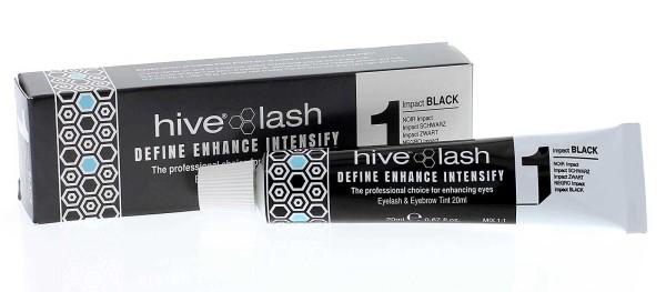 Hive Schwarz Nr. 1 Wimpernfarbe und Augenbrauenfarbe, 20 ml Impact Black