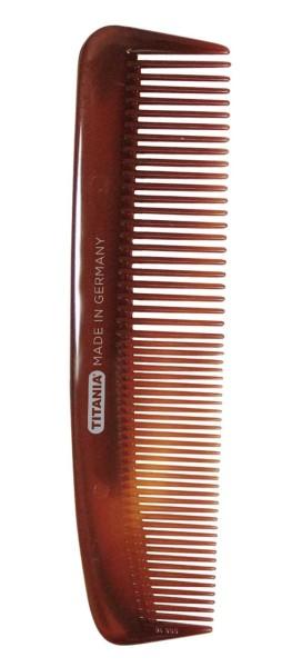 Nasskamm, Frisierkamm, Kamm braun 12.5 cm, für schonendes Haare kämmen, für Damen und Herren-Farbe B