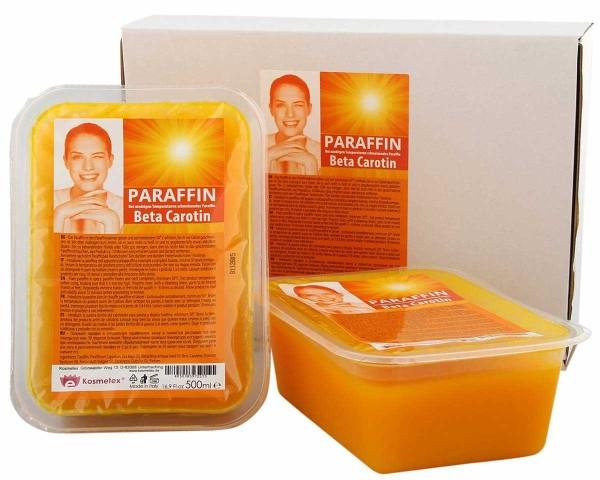 Kosmetex Paraffinbad Beta Carotin, Paraffin-wachs mit niedrigeren Schmelzpunkt, 2 x 500ml