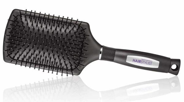 Haarbürste, Quadratisch Pneumatikbürste mit großem Luftkissen, Paddlebürste, schwarz