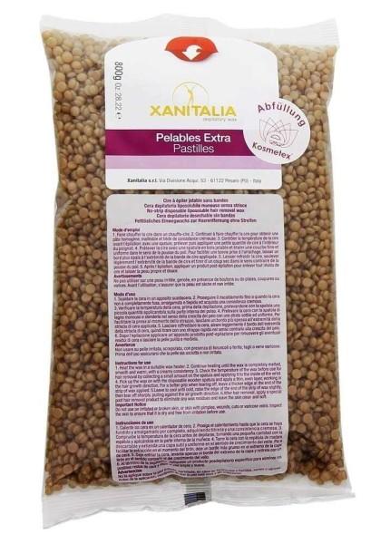 Xanitalia Premium Bronze Pelables EXTRA Wachs-Perlen für Super flexibles Waxing ohne Vliesstreife, 8