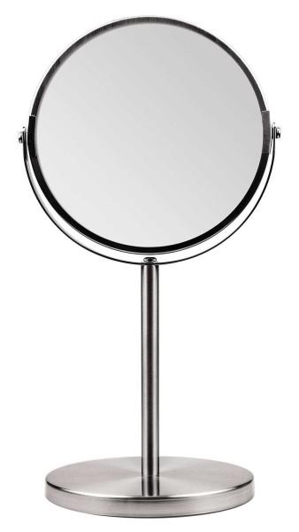 Kosmetex Metall Stand-Spiegel mit 2-fach Vergrößerung, 2 Spiegelflächen, 34cm Ø 16cm, Kosmetik-Spieg