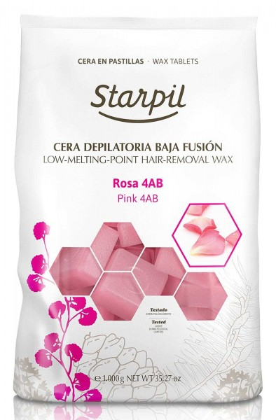 Starpil Rosa 4AB Pink Hartwachs Blöcke, 1kg