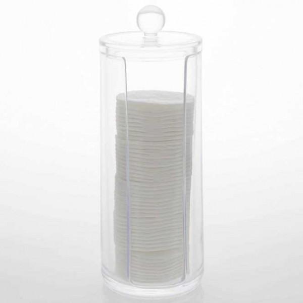 Wattepadspender , Acryl, Behälter f. Wattepads Halterung, Aufbewahrung, Höhe 16,8 cm