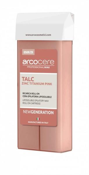 Wachspatrone Rosa Talc-Zinc Titanium Rose Creamy arcocere, 100 ml