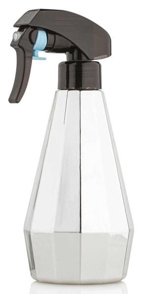 Sprühflasche 300 ml, silber, Flasche mit Sprühkopf Zerstäuber, leer