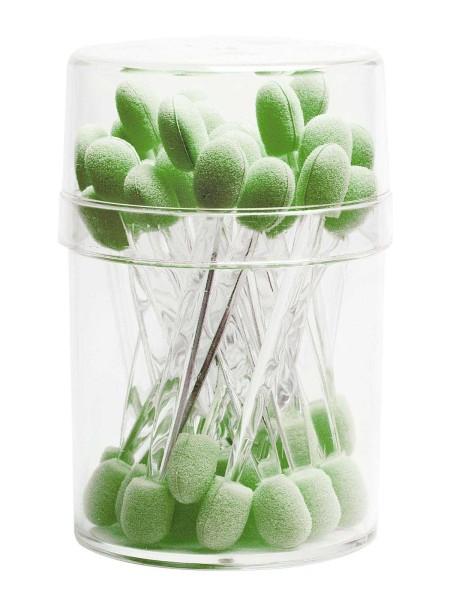 30x Lidschattenpinsel, Doppel Lidschatten Applikator, Acryl-Farbe Grün