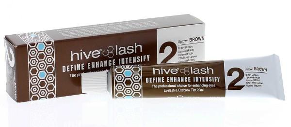 Hive Braun Nr. 2 Wimpernfarbe und Augenbrauenfarbe, 20 ml Uptown Brown
