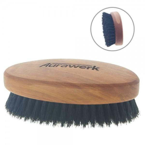 Aurawerk Wildschwein Haar-Bürste Birnbaum-Holz, Herrenbürste, Männerhaarbürste mit weichen Borsten,