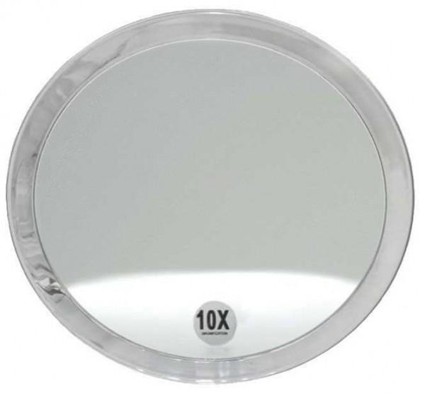Runder 10-fach Kosmetik-Spiegel Ø 23cm,mit verschiedenen Vergrößerung und Saugnäpfen.