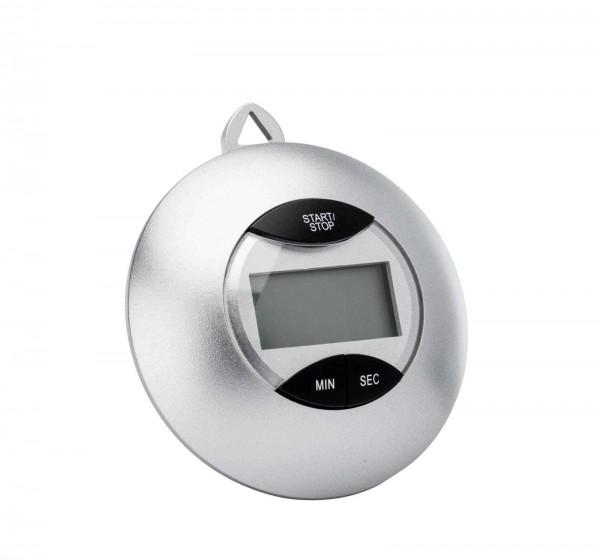 Digitaler Timer mit Batterie, silber
