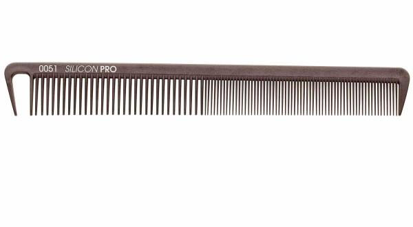 Friseurkamm, flexibler Silikonkamm, 18 cm Schneidekamm