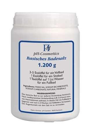 Basisches Badesalz Dose für Basenbäder, Basensalz, Badezusatz, pH-Cosmetics 1200g