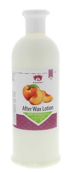Kosmetex Pfirsich After-Wax Post Lotion mit Vitamin A und E, nach Wachsen, Waxing, Zuckern 500ml