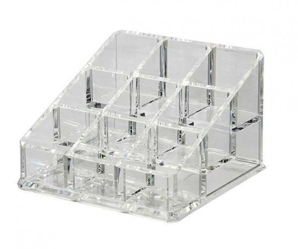 Kosmetik Accessoire Ständer, Acryl Organizer, 9x9cm, leer