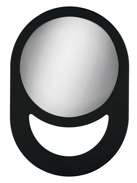 Handspiegel Spiegel 27cm, Schwarz mit großem Griff
