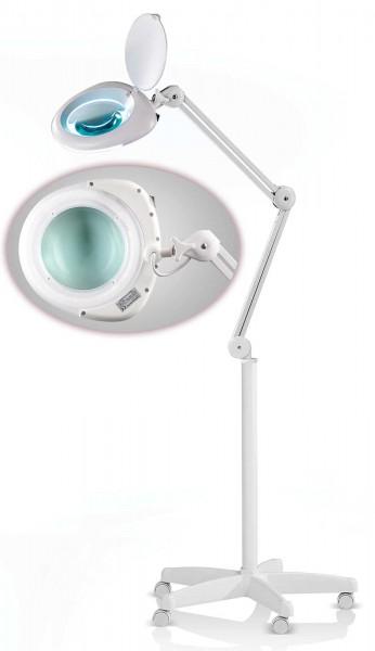 5-fach Vergrößerungslampe 5D Fly Lupenleuchte mit rollbar 5-Speichen-Ständer
