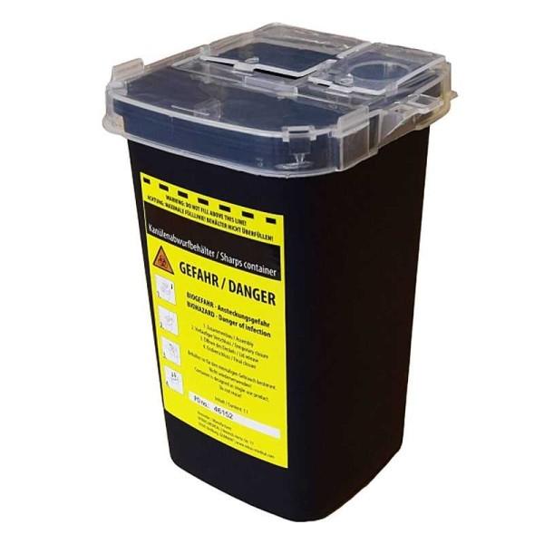Abwurfbox, Entsorgungsbox, Behälter für Kanülen, Rasierklingen, Lanzetten, Skalpellklingen