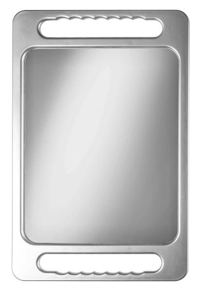 Friseur-Spiegel m. Haltegriff, Großer Salon Handspiegel 40 cm, Doppel-Griff