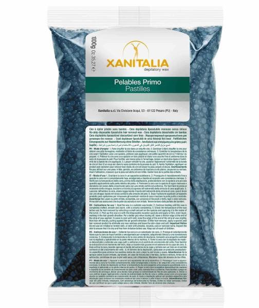 Wachsperlen Azulen Pelables Primo, Xanitalia Pastilles Waxing ohne Vliesstreifen für soft and stretc