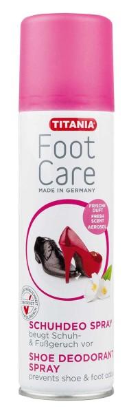 TITANIA Schuh Deospray, desinfizierend, bei Schuhgeruch, Schweißfüße, Schuhspray, 200 ml