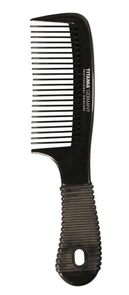 Kamm mit Griff, Kosmetex Strähnenkamm 20 cm Griffkamm mit Grip-Farbe Schwarz