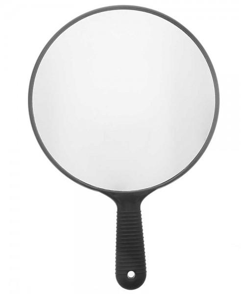 Ø 26cm Großer Friseur-Spiegel, Handspiegel Schwarz 37cm