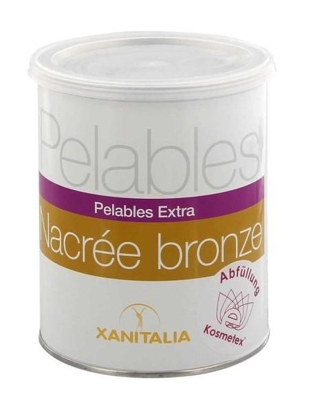 Xanitalia Wachs Pelable EXTRA Bronze Wax Dose für flexibles Waxing ohne Vliesstreife, 800g