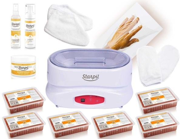 Starpil Paraffin Kit, Paraffinerwärmer, Paraffin und Kosmetik im Set