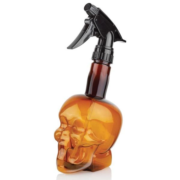 Barber Shop Skull Sprühkopf-Flasche 500 ml, Leere Sprühflasche mit Zerstäuber