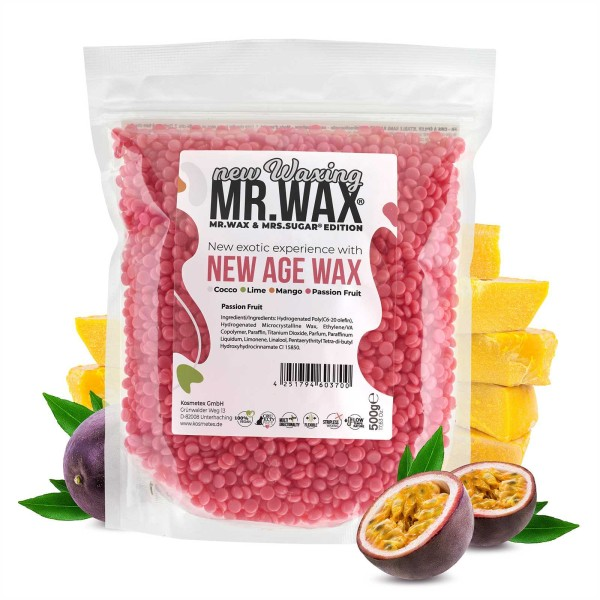 Mr. Wax Wachsperlen Passionsfrucht New Age Wax, New Waxing, 500g