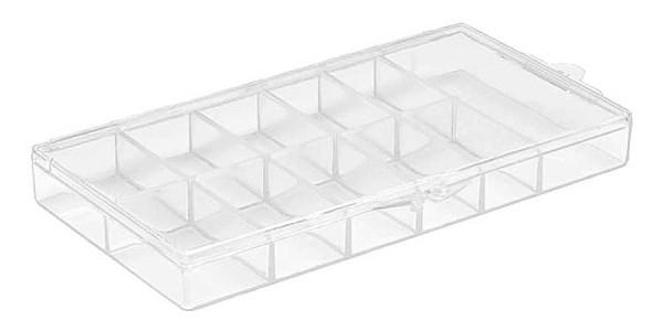 Nailart Tip-Organizer, Nagelkunst Sortimentskasten, Aufbewahrungsbox, transparent
