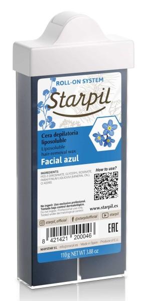 Starpil Wachspatrone Face Azulen/ Blau, schmaler Gesicht Roll-On, 110g