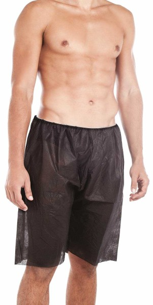 10x Einmal Slip Boxershorts, Vlies Schwarz