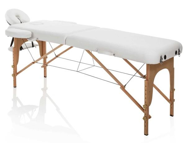 Tragbare Kosmetikliege, Leicht & mobile nur 12kg schwer, Holz Master Wood weiß, Tragkr. max. 226kg