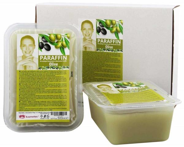 Kosmetex Paraffinbad Olive, Paraffin-wachs mit niedrigeren Schmelzpunkt, 2 x 500ml