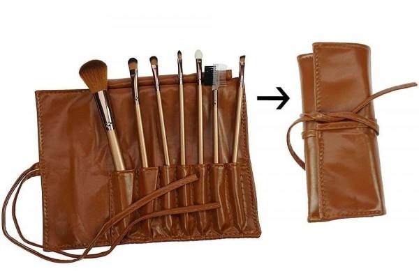 7-teiliges Kosmetik-Pinsel Set mit Pinselset mit Tasche, Kosmetex
