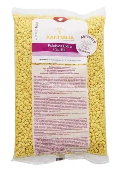 Xanitalia Premium Argan Pelables EXTRA Wachs-Perlen m. Arganöl für Super flexibles Waxing ohne Vlies
