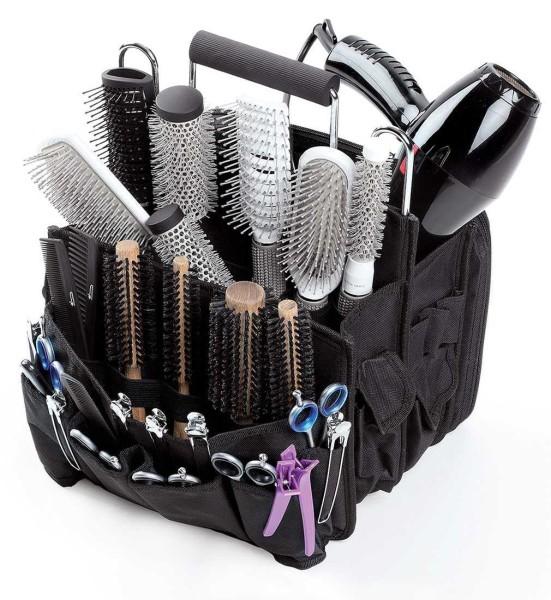 28 x 28 x 38 cm Tragbare Friseurwerkzeug Scherentasche, Friseurtasche mit Innenfächern