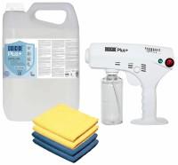 Set Desinfektion Spray Maschine mit 5 Liter Disicide Plus+ Konzentrat, 4x Mikrofasertücher