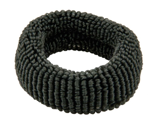 Haargummi Set, 4 Stck., breit, aus Frottee, Grau ohne Metall