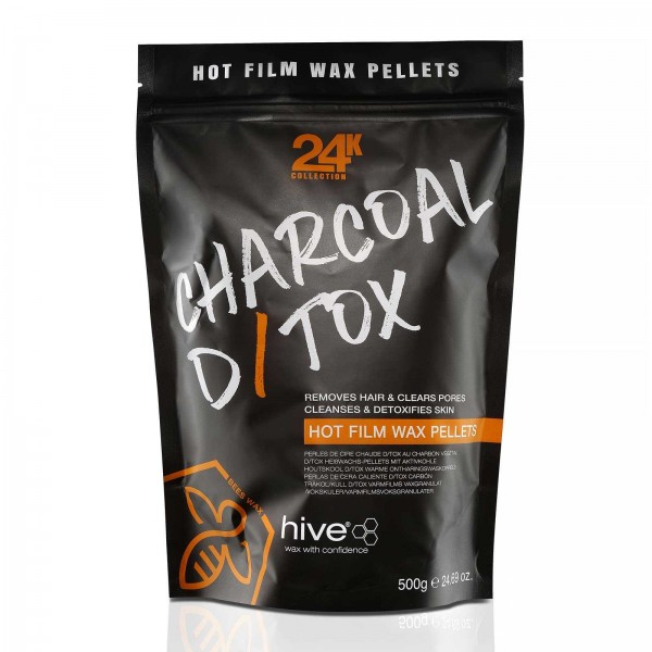 Hive 24K Collection, Kohle D/tox Warm Wachspellets, 500g