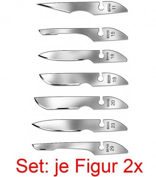 14x Bayha Skalpellklingen, Steril, Mix Klingenset von Kosmetex, einzeln verpackt