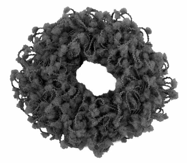 Haargummi Set, 2 Stück, breit, aus Frottee,Braun ohne Metall