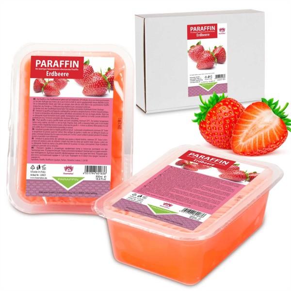 Kosmetex Paraffin Erdbeere, Paraffinwachs, 2 x 500ml