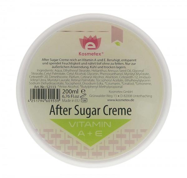 Kosmetex After Sugar Creme mit Vitamin A und E, 200ml