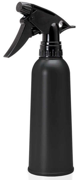 Sprühflasche 300 ml Schwarz matt, Flasche mit Sprühkopf Zerstäuber, leer